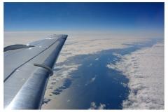 Flug Richtung Norden